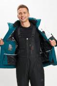 Оптом Горнолыжный костюм мужской темно-зеленого цвета 077019TZ в Екатеринбурге, фото 11