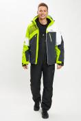 Оптом Горнолыжный костюм мужской зеленого цвета 077019Z в Екатеринбурге, фото 3