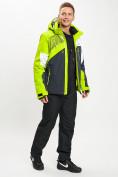 Оптом Горнолыжный костюм мужской зеленого цвета 077019Z в Екатеринбурге, фото 4