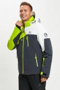 Оптом Горнолыжный костюм мужской зеленого цвета 077019Z в Екатеринбурге, фото 5