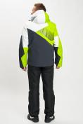 Оптом Горнолыжный костюм мужской зеленого цвета 077019Z в Екатеринбурге, фото 6