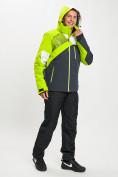 Оптом Горнолыжный костюм мужской зеленого цвета 077019Z в Екатеринбурге, фото 7