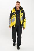 Оптом Горнолыжный костюм мужской желтого цвета 077022J в Екатеринбурге, фото 3
