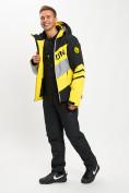 Оптом Горнолыжный костюм мужской желтого цвета 077022J в Екатеринбурге, фото 2