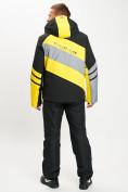 Оптом Горнолыжный костюм мужской желтого цвета 077022J в Екатеринбурге, фото 5