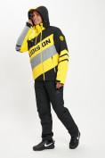 Оптом Горнолыжный костюм мужской желтого цвета 077022J в Екатеринбурге, фото 6