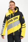 Оптом Горнолыжный костюм мужской желтого цвета 077022J в Екатеринбурге, фото 8