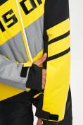 Оптом Горнолыжный костюм мужской желтого цвета 077022J в Екатеринбурге, фото 9