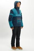Оптом Горнолыжный костюм анорак мужской темно-зеленого цвета 077024TZ в Екатеринбурге, фото 5