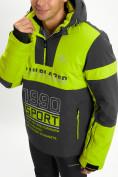 Оптом Горнолыжный костюм анорак мужской зеленого цвета 077024Z в Екатеринбурге, фото 10