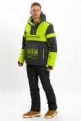 Оптом Горнолыжный костюм анорак мужской зеленого цвета 077024Z в Екатеринбурге, фото 3