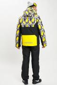 Оптом Горнолыжный костюм анорак мужской желтого цвета 077027J в Екатеринбурге, фото 4