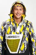 Оптом Горнолыжный костюм анорак мужской желтого цвета 077027J в Екатеринбурге, фото 6
