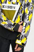 Оптом Горнолыжный костюм анорак мужской желтого цвета 077027J в Екатеринбурге, фото 7
