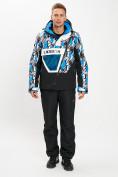 Оптом Горнолыжный костюм анорак мужской синего цвета 077027S в Екатеринбурге, фото 3