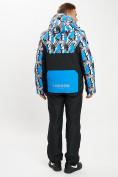 Оптом Горнолыжный костюм анорак мужской синего цвета 077027S в Екатеринбурге, фото 4