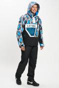 Оптом Горнолыжный костюм анорак мужской синего цвета 077027S в Екатеринбурге, фото 5