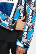 Оптом Горнолыжный костюм анорак мужской синего цвета 077027S в Екатеринбурге, фото 7