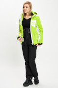 Оптом Горнолыжный костюм женский зеленого цвета 077030Z в Екатеринбурге, фото 4