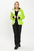 Оптом Горнолыжный костюм женский зеленого цвета 077030Z в Екатеринбурге, фото 2