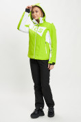 Оптом Горнолыжный костюм женский зеленого цвета 077030Z в Екатеринбурге, фото 7