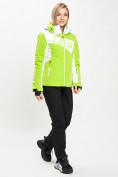 Оптом Горнолыжный костюм женский зеленого цвета 077030Z в Екатеринбурге, фото 5