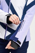 Оптом Горнолыжный костюм женский фиолетового цвета 077031F в Екатеринбурге, фото 10