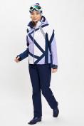 Оптом Горнолыжный костюм женский фиолетового цвета 077031F в Екатеринбурге, фото 2