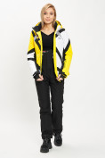 Оптом Горнолыжный костюм женский желтого цвета 077031J в Екатеринбурге, фото 4