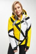 Оптом Горнолыжный костюм женский желтого цвета 077031J в Екатеринбурге, фото 6