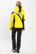 Оптом Горнолыжный костюм женский желтого цвета 077031J в Екатеринбурге, фото 5