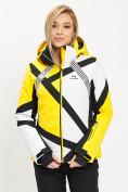 Оптом Горнолыжный костюм женский желтого цвета 077031J в Екатеринбурге, фото 7
