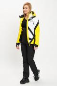 Оптом Горнолыжный костюм женский желтого цвета 077031J в Екатеринбурге, фото 3