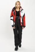Оптом Горнолыжный костюм женский красного цвета 077031Kr в Екатеринбурге, фото 3