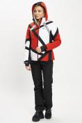 Оптом Горнолыжный костюм женский красного цвета 077031Kr в Екатеринбурге, фото 4