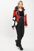 Оптом Горнолыжный костюм женский красного цвета 077031Kr в Екатеринбурге, фото 5