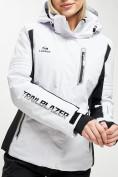 Оптом Горнолыжный костюм женский белого цвета 077034Bl в Екатеринбурге, фото 9