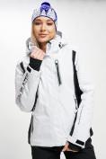 Оптом Горнолыжный костюм женский белого цвета 077034Bl в Екатеринбурге, фото 8