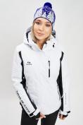 Оптом Горнолыжный костюм женский белого цвета 077034Bl в Екатеринбурге, фото 7