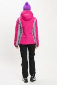 Оптом Горнолыжный костюм женский розового цвета 077034R в Екатеринбурге, фото 7