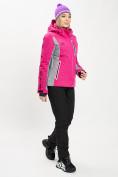Оптом Горнолыжный костюм женский розового цвета 077034R в Екатеринбурге, фото 3