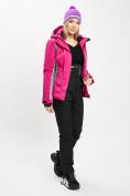 Оптом Горнолыжный костюм женский розового цвета 077034R в Екатеринбурге, фото 6
