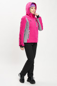 Оптом Горнолыжный костюм женский розового цвета 077034R в Екатеринбурге, фото 4