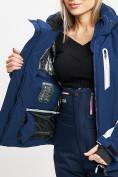 Оптом Горнолыжный костюм женский темно-синего цвета 077034TS в Екатеринбурге, фото 10