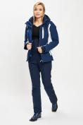 Оптом Горнолыжный костюм женский темно-синего цвета 077034TS в Екатеринбурге, фото 4