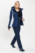 Оптом Горнолыжный костюм женский темно-синего цвета 077034TS в Екатеринбурге, фото 3