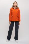 Оптом Ветровка MTFORCE женская оранжевого цвета 20014O