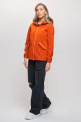 Оптом Ветровка MTFORCE женская оранжевого цвета 20014O, фото 4
