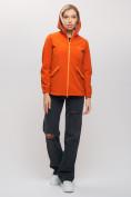 Оптом Ветровка MTFORCE женская оранжевого цвета 20014O, фото 7