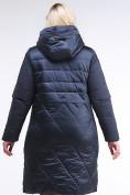 Оптом Куртка зимняя женская классическая темно-синего цвета 100-916_123TS в Казани, фото 4